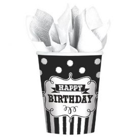 Chalkboard Birthday Cups, 9 oz. 8ct