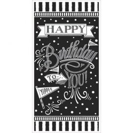 Chalkboard Birthday Vertical Giant Sign Banner