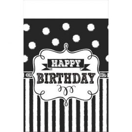 Chalkboard Birthday Plastic Table Cover