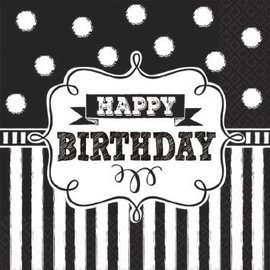 Chalkboard Birthday Beverage Napkins, 16ct