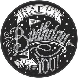 "Hooray, It's Your Birthday Round Plates, 7""-18ct"