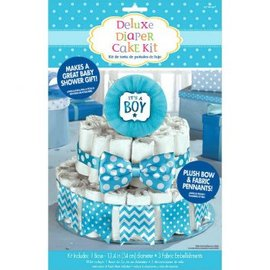 Baby Shower Deluxe Diaper Cake Dec. Kit - Boy