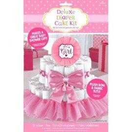 Baby Shower Deluxe Diaper Cake Dec. Kit - Girl