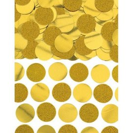 Glitter & Foil Circle Confetti - Gold 2.25oz