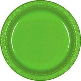 "Kiwi Plastic Plates, 9"" 20ct"