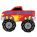 Monster Truck Happy Birthday Balloon, 40""
