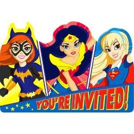 DC Super Hero Girls™ Postcard Invitations 8ct