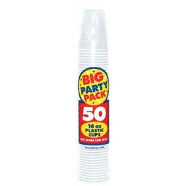 Clear Big Party Pack Plastic Cups, 16 oz. 50ct
