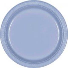 "Pastel Blue Plastic Plates, 9""-20ct"