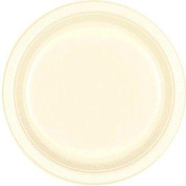 "Vanilla Crème Plastic Plates, 9"" 20ct"