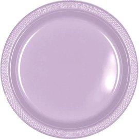 """Lavender Plastic Plates, 9"""" 20ct"""