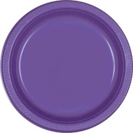 "New Purple Plastic Plates, 9"" 20ct"