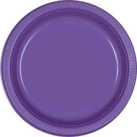 "New Purple Plastic Plates, 9"" 20ct"