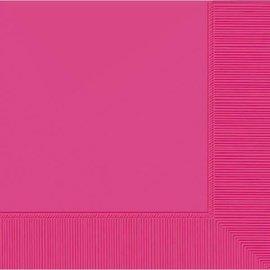 Bright Pink 2-Ply Beverage Napkins