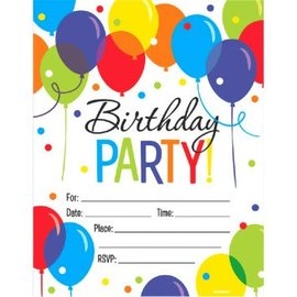 Balloon Bash Mega Value Pack Invitations, 50ct