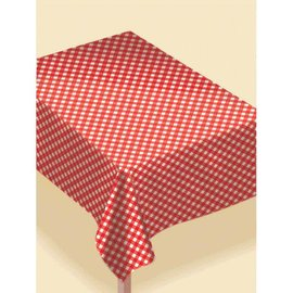 Gingham Table Cover, Flannel-Backed Vinyl