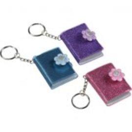 Glitter Keychain Notebook