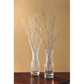 "Decorative Glitter Branches - Silver 24"" 4ct."