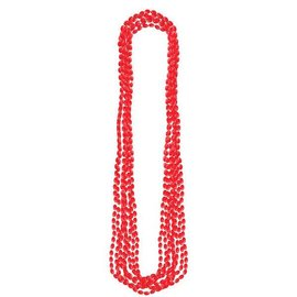 Red Metallic Bead Necklaces 8ct