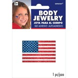 American Flag Body Jewelry - Red, White And Blue