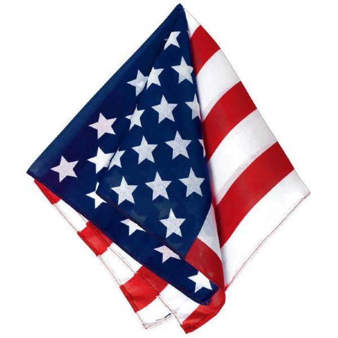 American Flag Printed Bandana