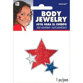 Stars Body Jewelry - Red, White And Blue