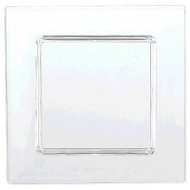 Clear Mini Plastic Square Plate - High Count-40ct