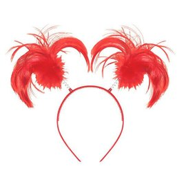 Red Ponytail Headbopper