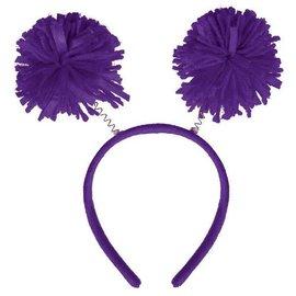Purple Pom Pom Headbopper