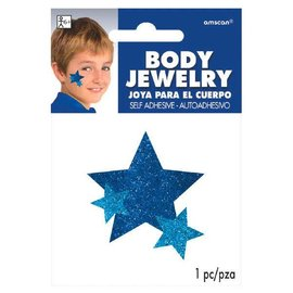 Blue Spirit Glitter Body Jewelry