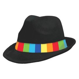 Rainbow Velour Fedora