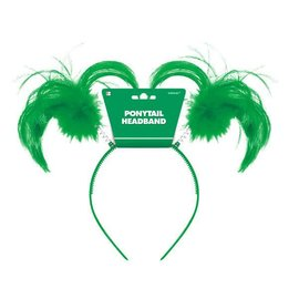 Green Ponytail Headbopper