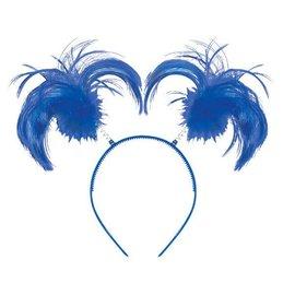 Blue Ponytail Headbopper