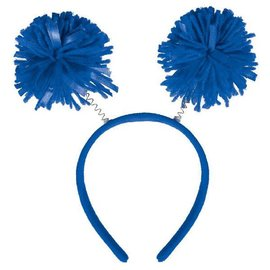 Blue Pom Pom Headbopper