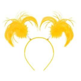 Yellow Ponytail Headbopper