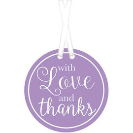 With Love & Thanks Tags - Lavender