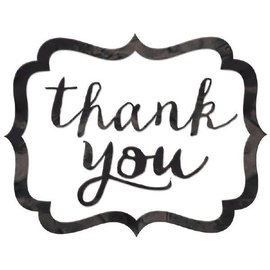Thank You Stickers - Black  50ct