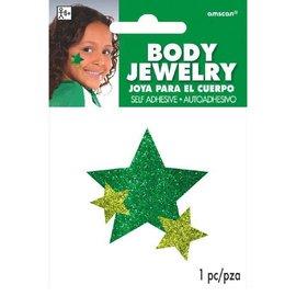 Green Spirit Glitter Body Jewelry