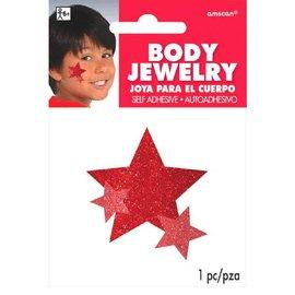 Red Spirit Glitter Body Jewelry