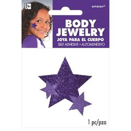 Purple Spirit Glitter Body Jewelry