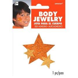 Orange Spirit Glitter Body Jewelry