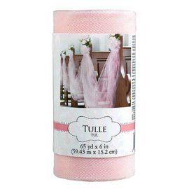 "Tulle Spool - New Pink 6"" x 65 yards"
