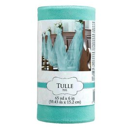 "Tulle Spool - Robin's-egg Blue 6"" x 65 yards"