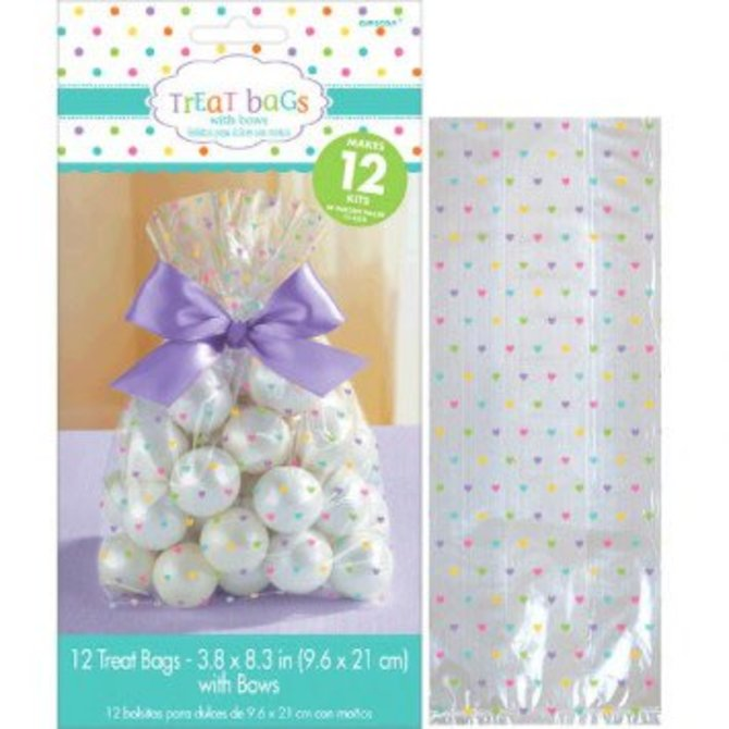 Baby Shower Cello Treat Bags - Neutral 12ct