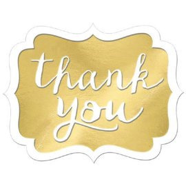 Thank You Stickers - Gold 50ct