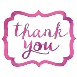 Thank You Stickers - Bright Pink, 50ct