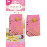 Baby Shower Foil Stamped Bags w/Stickers - Pink 20ct