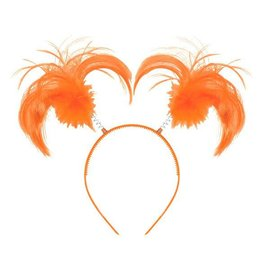 Orange Ponytail Headband
