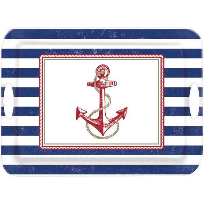 Anchors Aweigh Melamine Handle Tray
