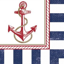 LUNCHEON NAPKINS ANCHORS AWEIGH-16ct